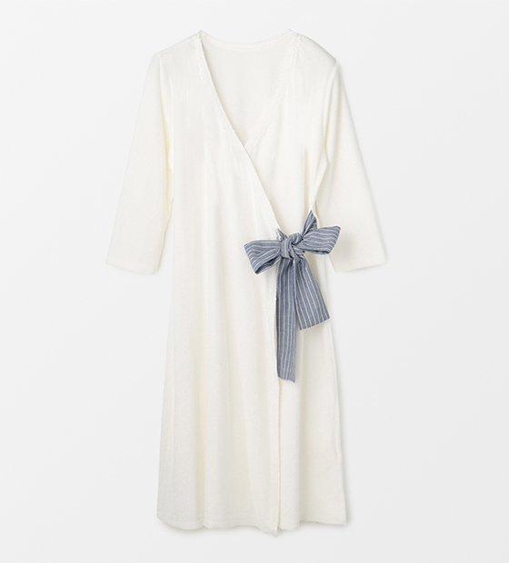 NEWチューリップナイトドレス ストライプリボン