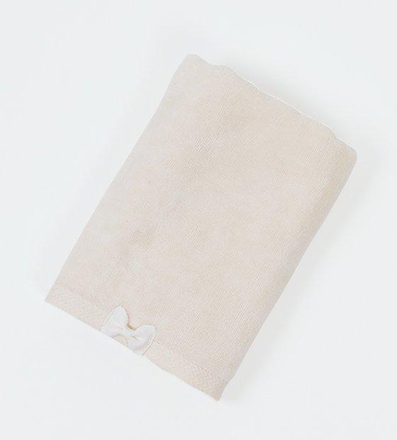 リボンフェイスタオル ホワイト