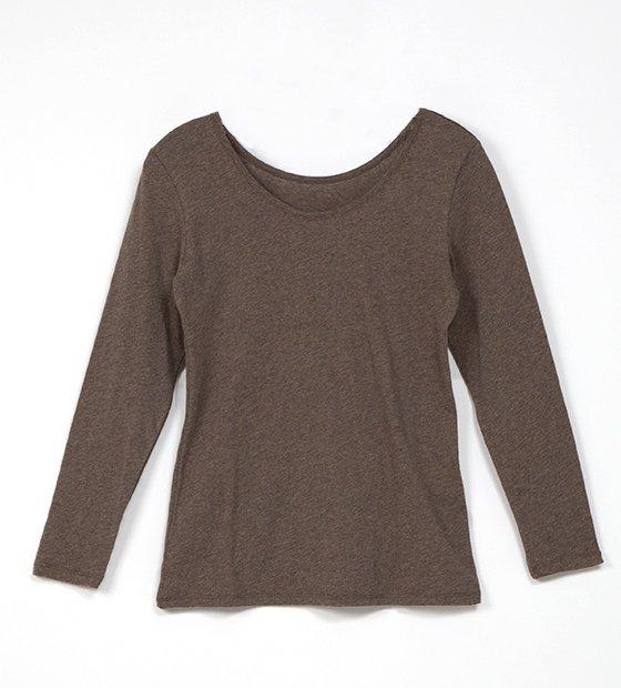 ファインニットロングTシャツ ブラウン