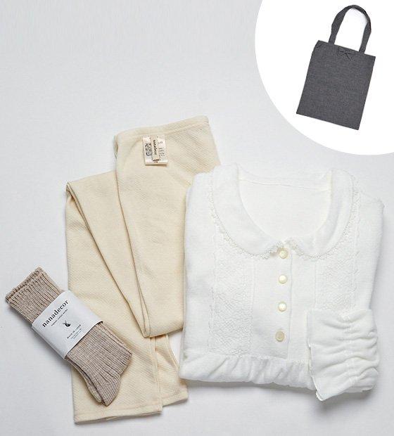 ゆるめるナイトドレスセット【アマリリス】ミニトートバッグ付き