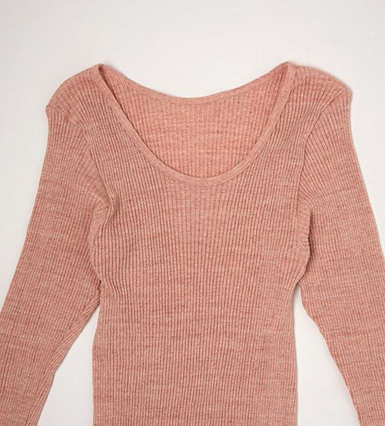 ナナリブロングTシャツ ピンク 10分丈