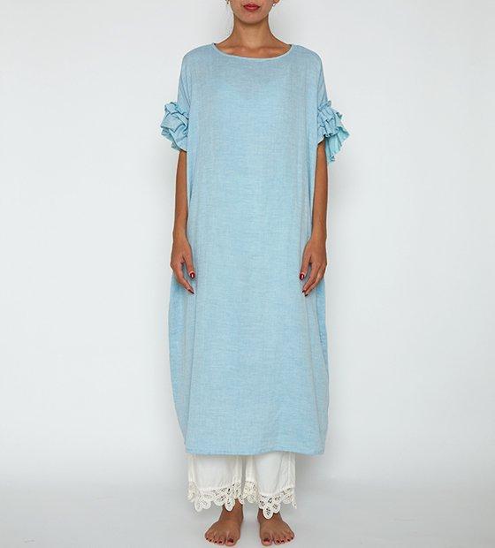 ローズマリーガーゼロングドレス