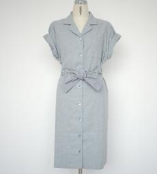 カルダモンシャツドレス グレー