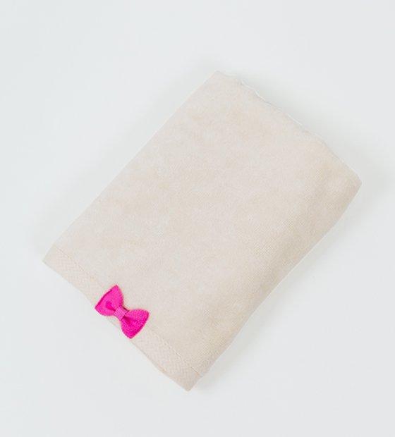 リボンフェイスタオル ピンク