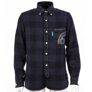 Gearプリントシャツ(ネイビーブルー)