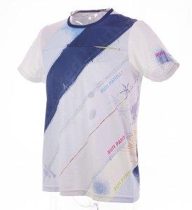 RUN PANDA! Men's EKIDEN CARBON Tシャツ(ホワイト/ネイビー)