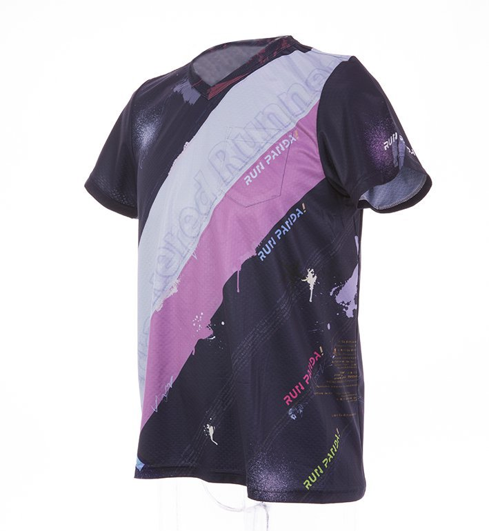RUN PANDA! Men's EKIDEN CARBON Tシャツ(ネイビー/ピンク)