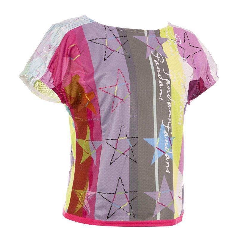 Star Red レディースランニングTシャツ