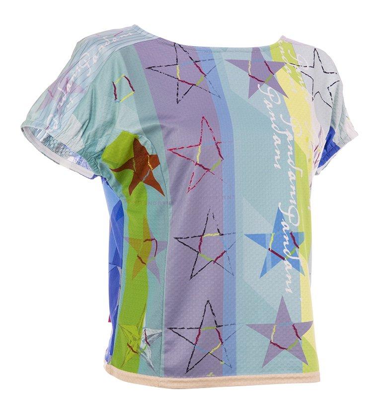 Star Green レディースランニングTシャツ