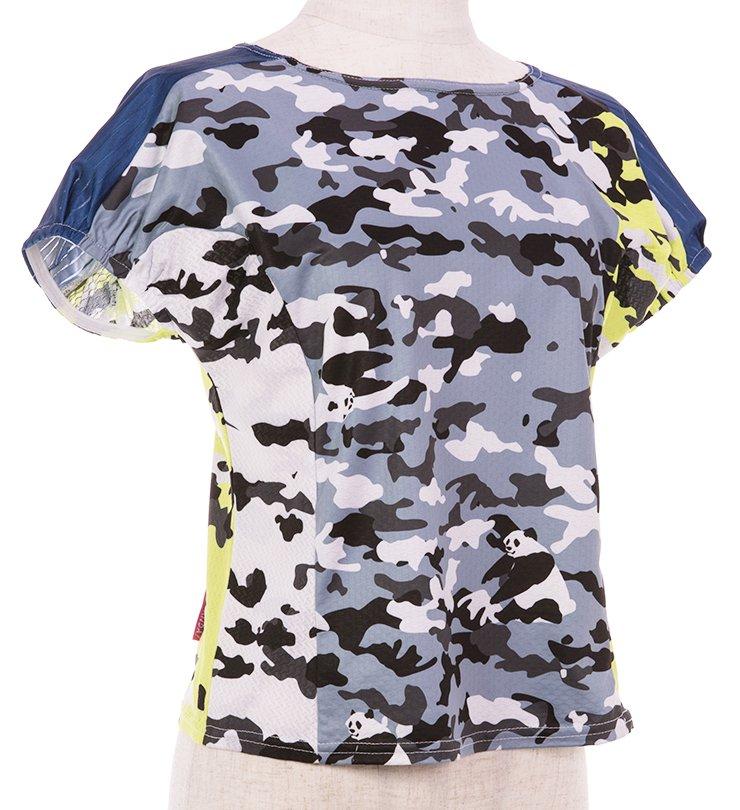 Panda ARMY レディースランニングTシャツ