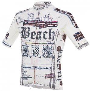 Death Beach レーシング半袖ジャージ(ホワイト)