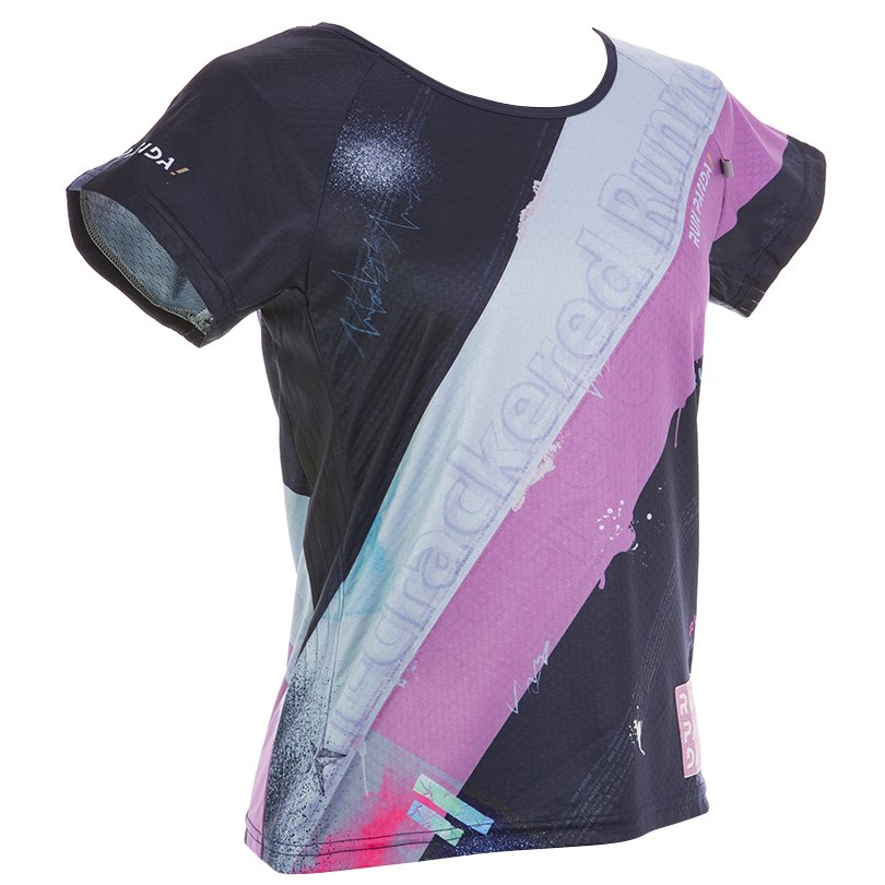 RUN PANDA! Ladies' EKIDEN CARBON Tシャツ(ネイビー)