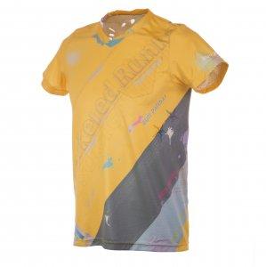 RUN PANDA! Men's EKIDEN CARBON Tシャツ(イエロー/モスグリーン)