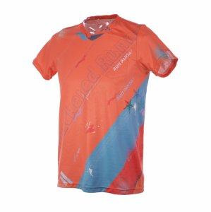 RUN PANDA! Men's EKIDEN CARBON Tシャツ(オレンジ/グリーン)
