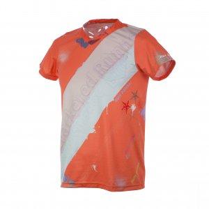 RUN PANDA! Men's EKIDEN CARBON Tシャツ(オレンジ/ライトグリーン)
