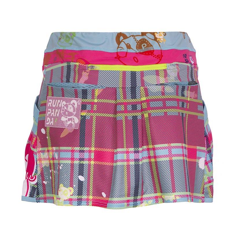 Venga! RUN PANDA!レディースランニングスカート(ペールブルー)