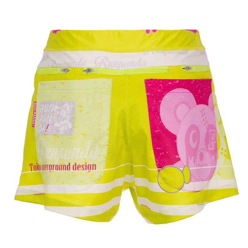 PiRATES Pandani 7 Pockets レディースジョギングパンツ/イエローグリーン