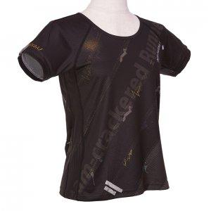 RUN PANDA! Ladies' EKIDEN CARBON Tシャツ(ブラック)