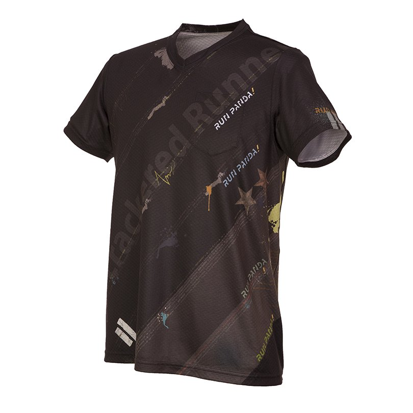<img class='new_mark_img1' src='https://img.shop-pro.jp/img/new/icons1.gif' style='border:none;display:inline;margin:0px;padding:0px;width:auto;' />RUN PANDA! Men's EKIDEN CARBON Tシャツ(ブラック)