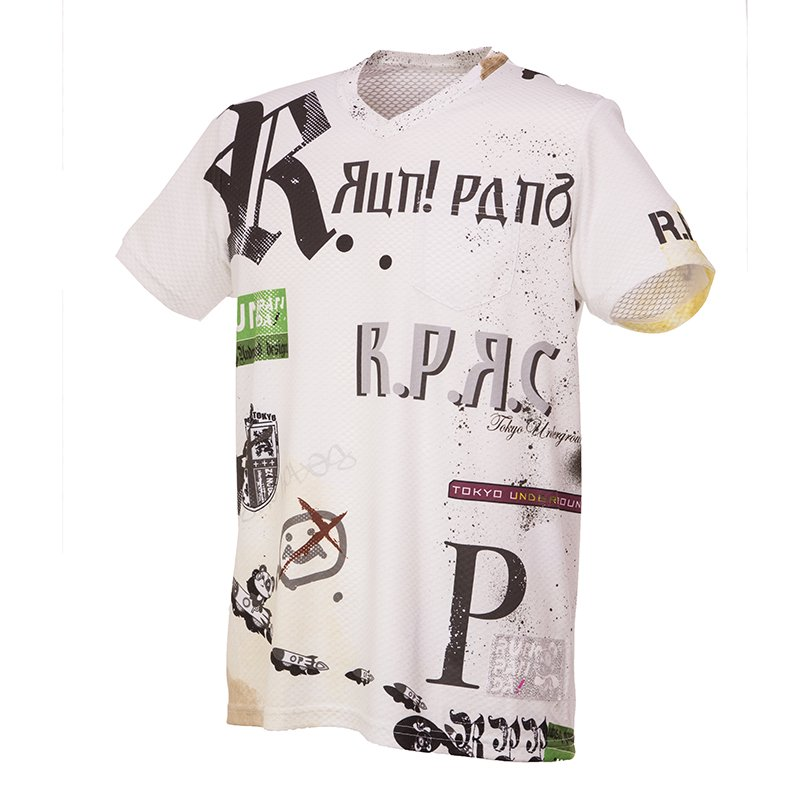 RUN PANDA! Men's R.P.R.C CARBON Tシャツ(ホワイト)