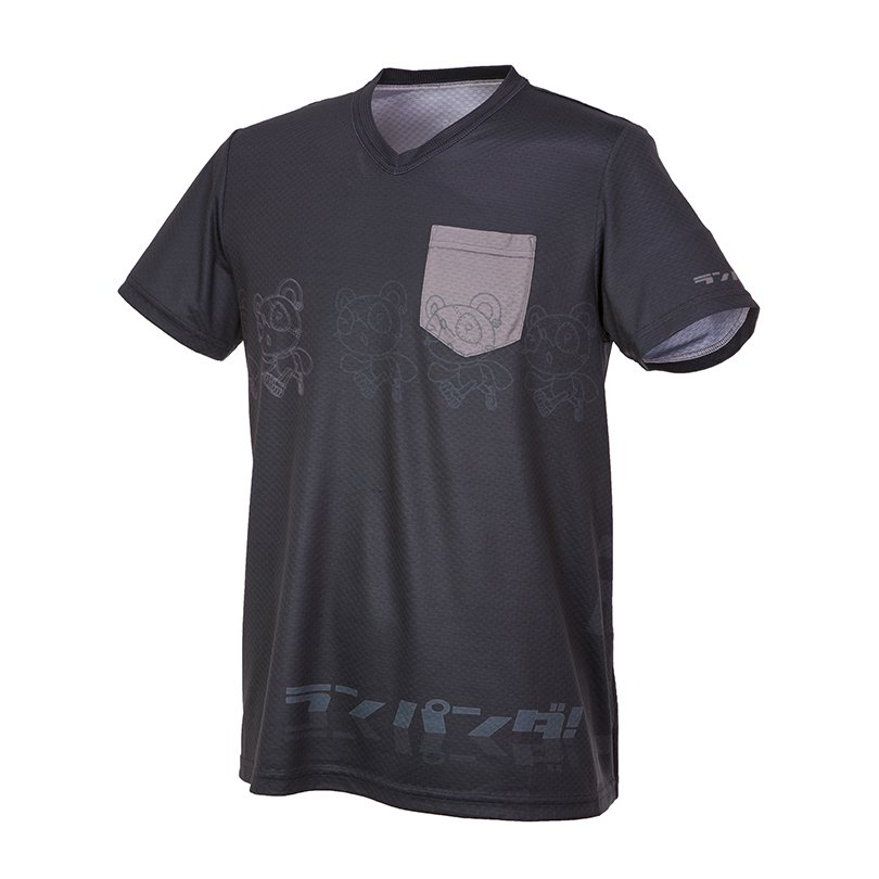 RUN PANDA! Men's Parallel CARBON Tシャツ(ネイビー)