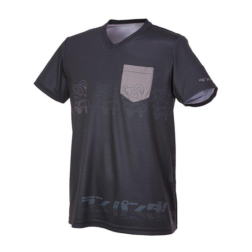 RUN PANDA! Men's Parallel CARBON Tシャツ(ネイビー)