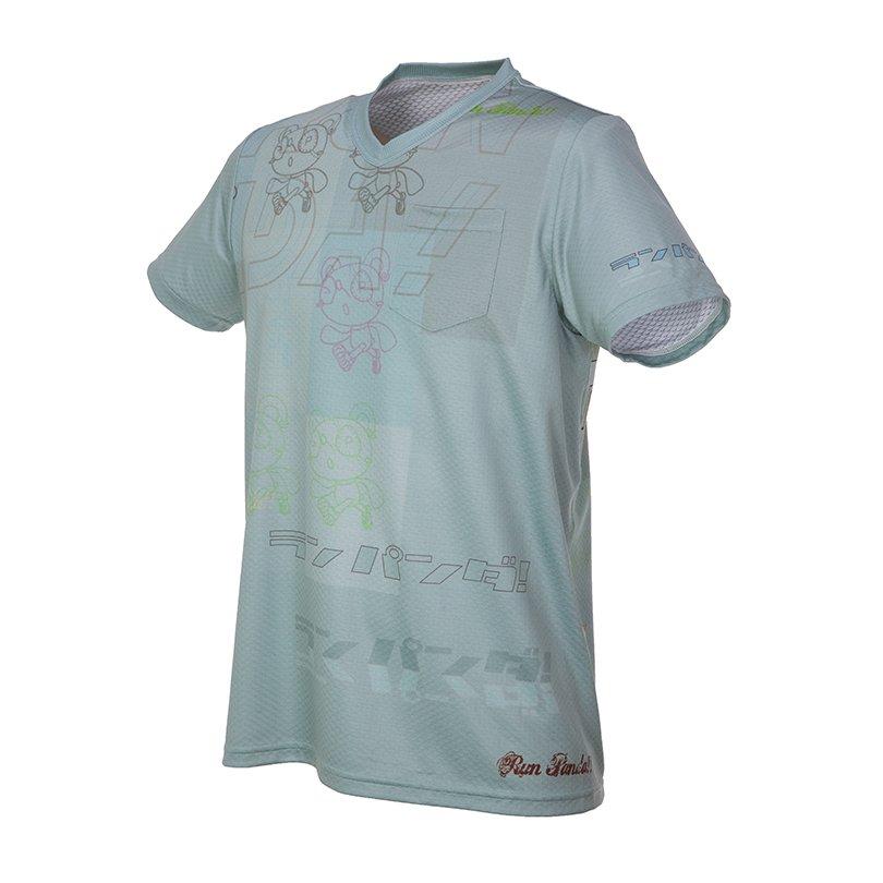 RUN PANDA! Men's TILE CARBON Tシャツ(ペールブルー)
