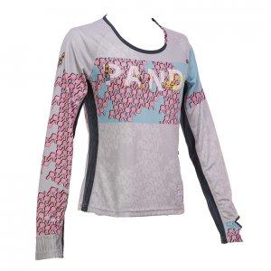 99 Usagiレディース長袖 CARBON Tシャツ(ライトグレー)