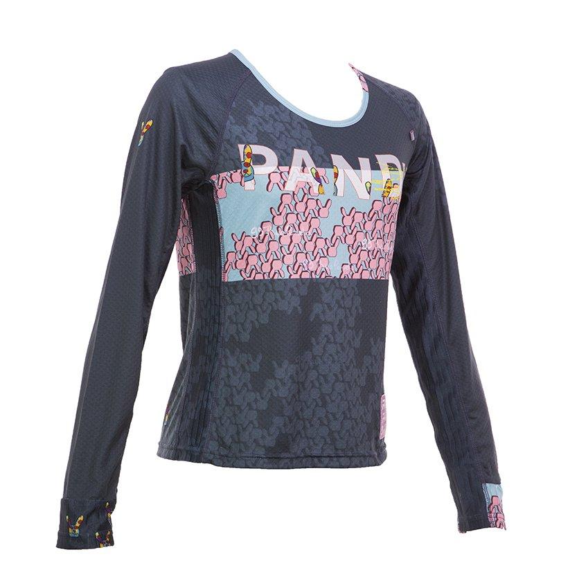 99 Usagiレディース長袖 CARBON Tシャツ(ネイビー)