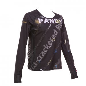 RUN PANDA! Ladies' EKIDEN CARBON 長袖Tシャツ(ブラック)