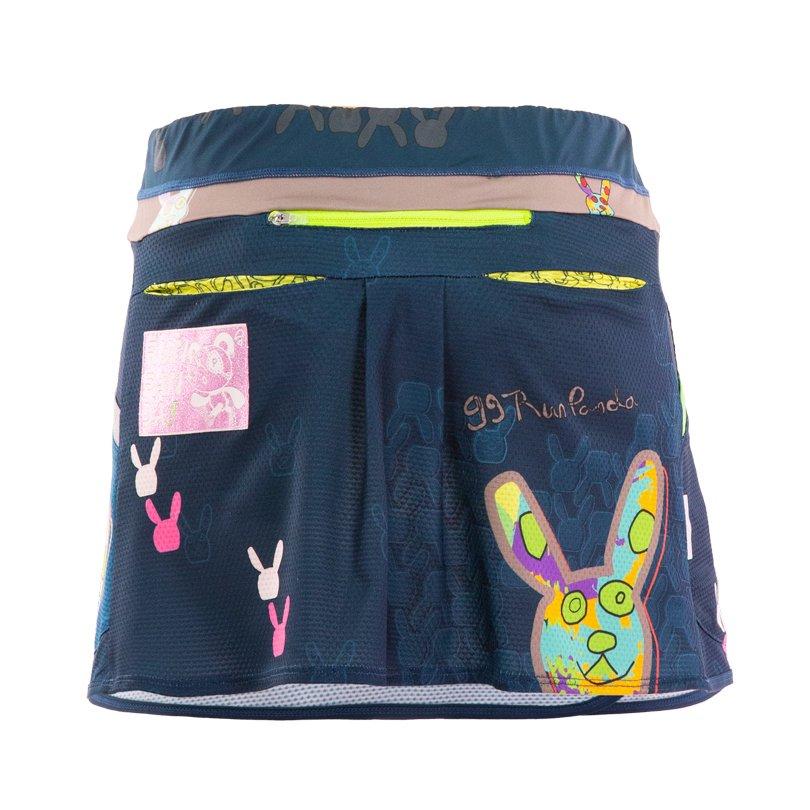 99 Usagi レディース ランニングスカート/ネイビー