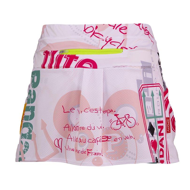 Pandani レディース ランニングスカート(ホワイト)