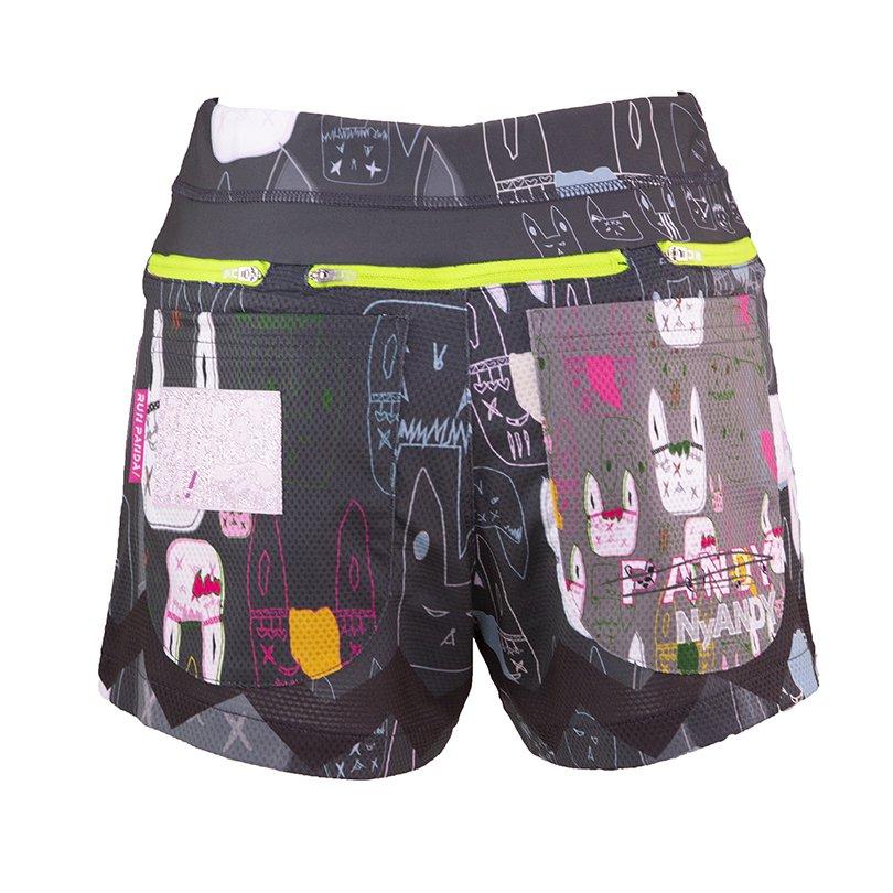 うさみみ悪猫団 7 Pockets レディースジョギングパンツ(ブラック)