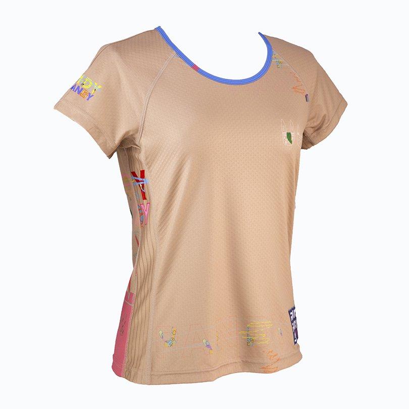 うさみみ悪猫団 Ladies' CARBON Tシャツ(キャメル)