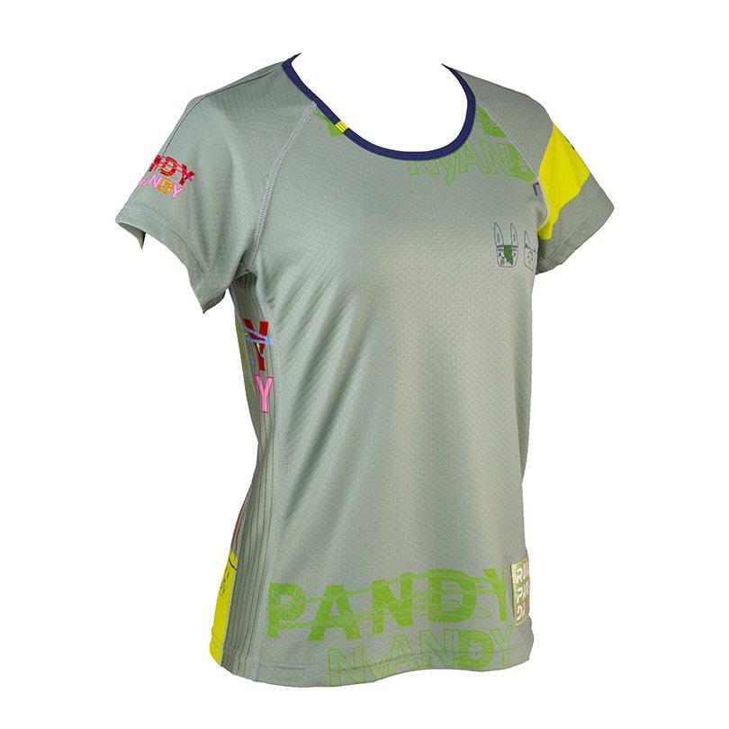 うさみみ悪猫団 Ladies' CARBON Tシャツ(グリーン)