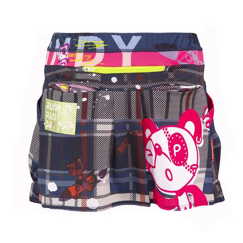 VENGA! RUN PANDA! サイクル&ランニングスカート(ネイビー)