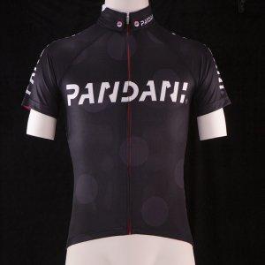PANDANIボタンダウン襟L1 半袖ジャージ(ブラック) サンプル品