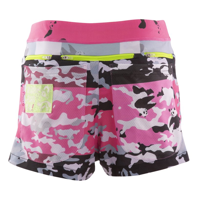 Panda ARMY 7 Pockets レディースジョギングパンツ/ブラックピンク