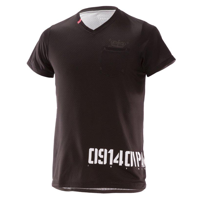 NUMERO RUN PANDA! Men's CARBON Tシャツ/ブラック×ホワイト