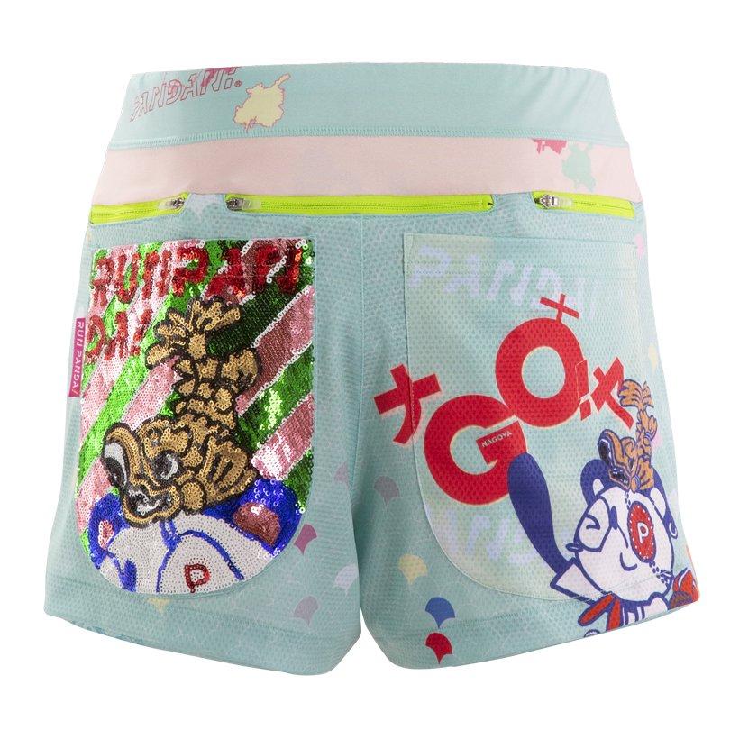 GO!GO!名GO屋!!2020年Ver.レディースジョギングパンツ/チェレステ-スパンコール【4月中旬入荷予定※最短の場合】