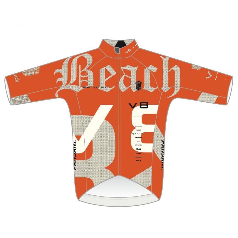 Beach Ver.8 RR半袖ジャージ/オレンジ