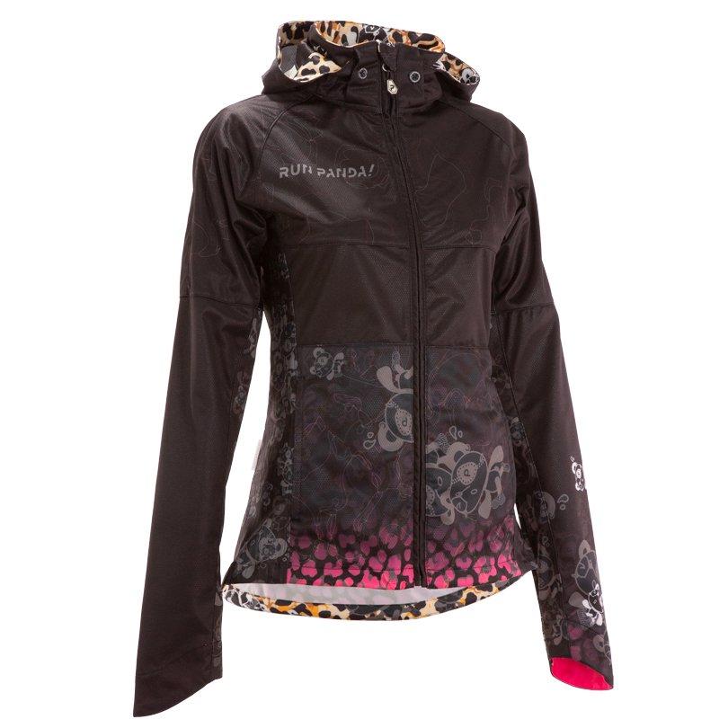 Venga! Leopard レディースフードジャケット/ブラックピンク