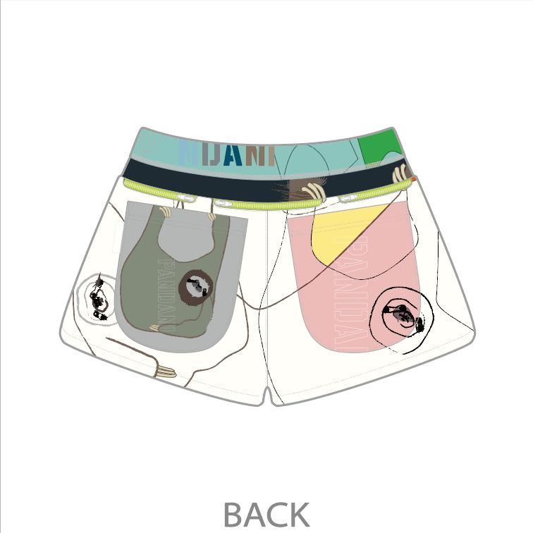 なまけもの 7 Pockets レディースジョギングパンツ/ホワイト【3月上旬~中旬入荷予定※最短の場合】