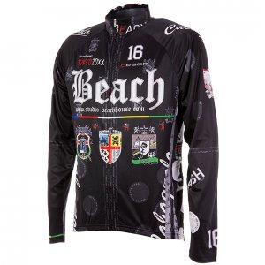 Beach Ver.4 春秋用薄長袖ジャージ(ブラック)