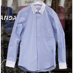 Pandani ボタンダウンシャツ(ブルー)