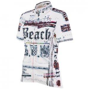 Death Beach レディース半袖ジャージ(ホワイト)HF