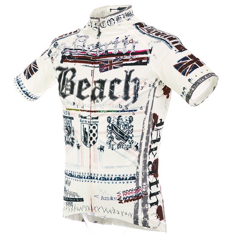 Death Beach 半袖ジャージ(ホワイト)HF