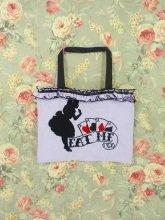 フリルトートバッグ:トランプアリスのフリルトートバッグ