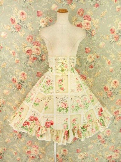 フリルスカート:エリーナ姫の思い出コルセットスカート 鈴リボンクラシカルローズ