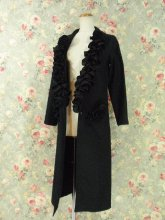 フリルゴシック黒衣:マッドサイエンティストのゴシックフリル黒衣